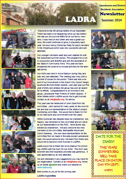 Newsletter 2014 - Front page